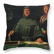 Luca Pacioli, Franciscan Friar Throw Pillow