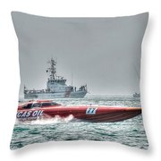 Lucas Oil Superboat Race Throw Pillow