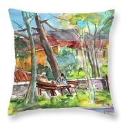Lucca In Italy 04 Throw Pillow by Miki De Goodaboom
