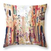 Lucca Street Throw Pillow