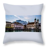 Lucerne's Architecture Throw Pillow
