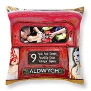 Lucha Bus London Throw Pillow