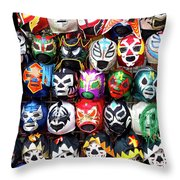Lucha Libre Wrestling Masks Throw Pillow