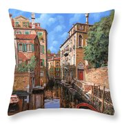 Luci A Venezia Throw Pillow