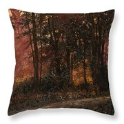 Luci Nel Bosco Throw Pillow