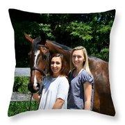 Lucia-cora16 Throw Pillow