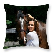 Lucia-cora6 Throw Pillow