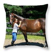 Lucia-cora8 Throw Pillow