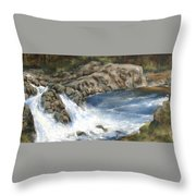 Lucia Falls Summer Throw Pillow