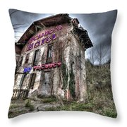 Luciano's Motel Throw Pillow