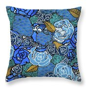 Lucia's Flowers Throw Pillow