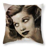 Lucille Ball By Mary Bassett Throw Pillow