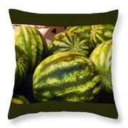 Lucious Watermelon Throw Pillow