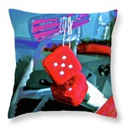 Lucky 5 Throw Pillow