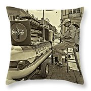 Lucky Dogs And Coke 2 Throw Pillow