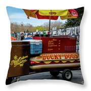 Lucky Dogs Throw Pillow