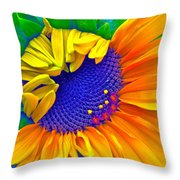 Lucky Throw Pillow by Gwyn Newcombe