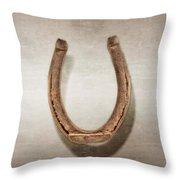 Lucky Horseshoe Throw Pillow