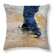 Lucky Puddle  Throw Pillow