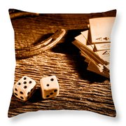 Lucky - Sepia Throw Pillow