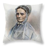 Lucretia Coffin Mott Throw Pillow by Granger