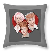 Lucy Expressions Gry Throw Pillow