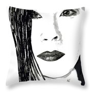 Lucy Liu Throw Pillow