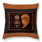 Lucy Sca Plaque  Throw Pillow