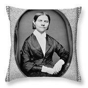 Lucy Stone, American Abolitionist Throw Pillow
