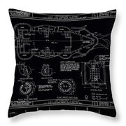 Lucy The Elephant Building Patent Blueprint 3 Throw Pillow