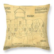 Lucy The Elephant Building Patent Blueprint  Throw Pillow