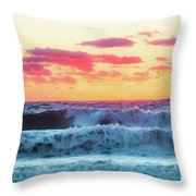 Lucy Vincent Surf Throw Pillow