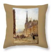 Ludgate Hill From The Steps Of The Cathedral Throw Pillow