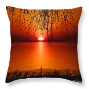 Ludington Sunset April 2016 Throw Pillow