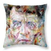 Ludwig Wittgenstein - Watercolor Portrait.2 Throw Pillow