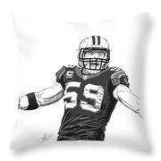 Luke Kuechly  Throw Pillow