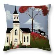 Lulabelle Goes To Church Throw Pillow