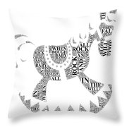 Lullaby Rock Throw Pillow