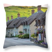 Lulworth Cottages Throw Pillow