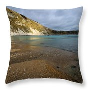 Lulworth Cove Throw Pillow