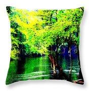 Lumber River II Throw Pillow