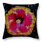 Luminous Bloom Throw Pillow