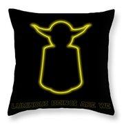 Luminous Yoda Throw Pillow