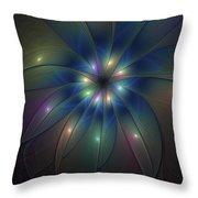 Luminous Fractal Art Throw Pillow