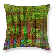 Luminous Landscape Abstract Throw Pillow