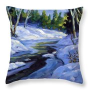 Luminous Snow Throw Pillow