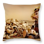 Lumuel And The Peanuts Throw Pillow
