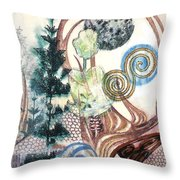 Luna 1 Throw Pillow