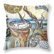 Luna 2 Throw Pillow