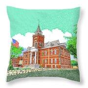 Luna County Court House  Deming  N M   Throw Pillow